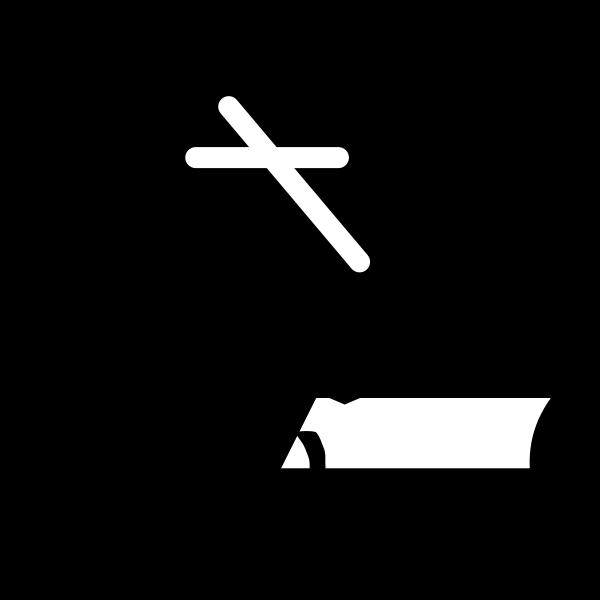 Vector drawing of closed hardback Bible
