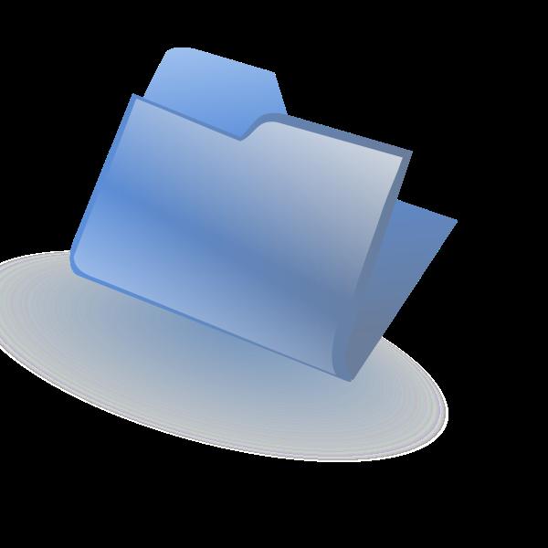Blue closed folder vector image