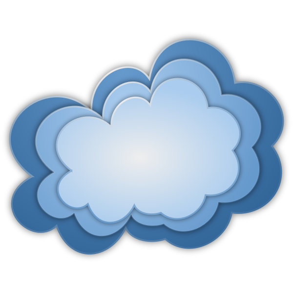 Three nternet clouds vector illustration