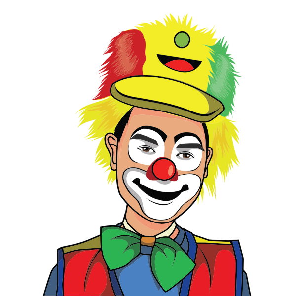 Colorful clown drawing