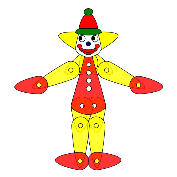 Toy Clown Puppet Animation
