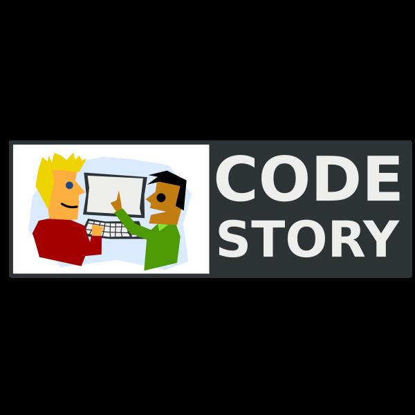 Code Story logo vector image