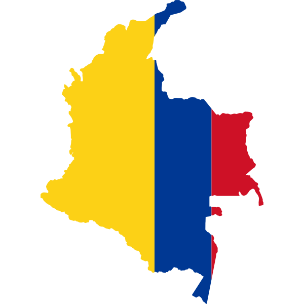 Colombia's geographical chart