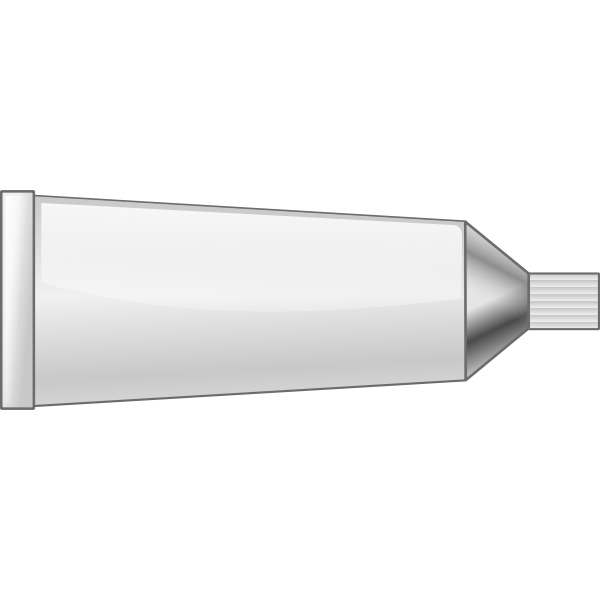 Tube paint with white color