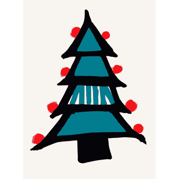 Colored in Christmas Tree