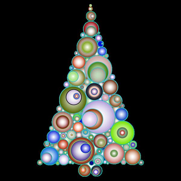 Colorful Abstract Circles Christmas Tree 4