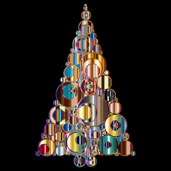 Colorful Abstract Circles Christmas Tree 6 Variation 2