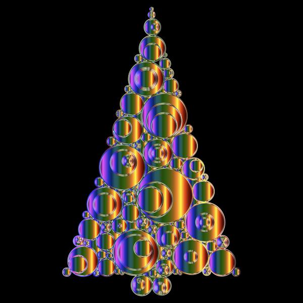 Colorful Abstract Circles Christmas Tree 6 Variation 4