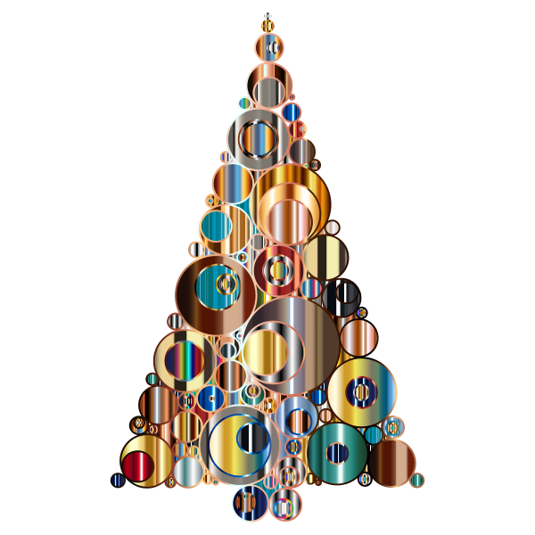 Colorful Abstract Circles Christmas Tree 6