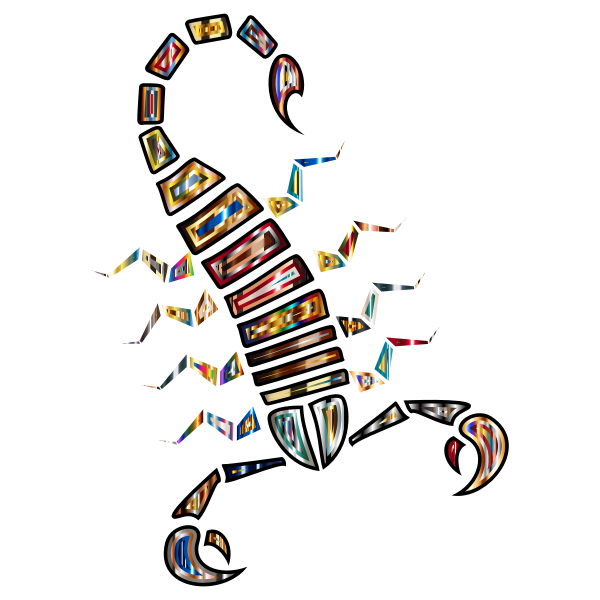Colorful Abstract Tribal Scorpion 4