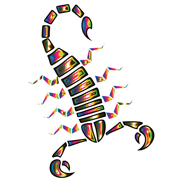 Colorful Abstract Tribal Scorpion 7