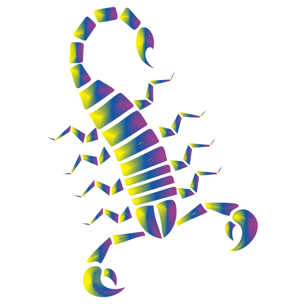 Colorful Abstract Tribal Scorpion 9