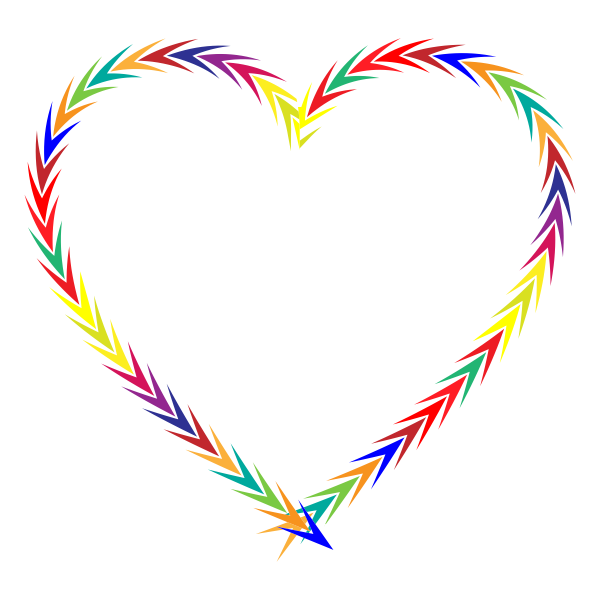 Colorful Arrows Heart