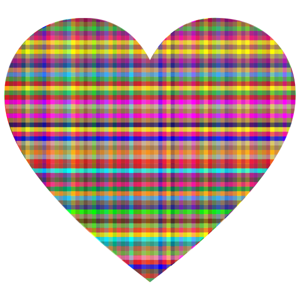 Colorful Checkered Heart
