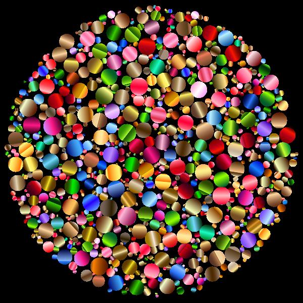 Colorful Circle Fractal 5 Variation 2