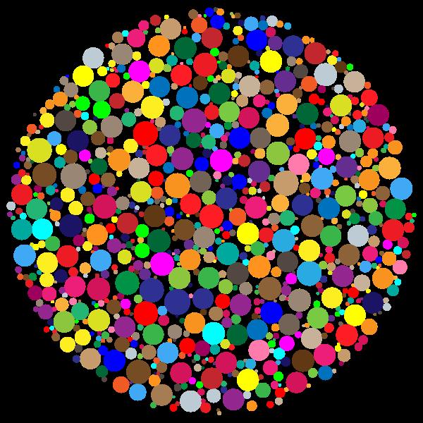 Colorful Circle Fractal