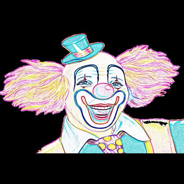 Colorful clown sketch