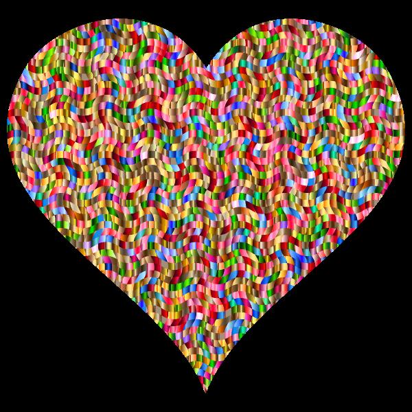 Colorful Confetti Heart 2