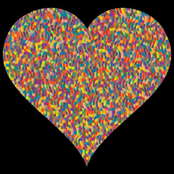 Colorful Confetti Heart 3