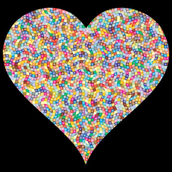 Colorful Confetti Heart 4