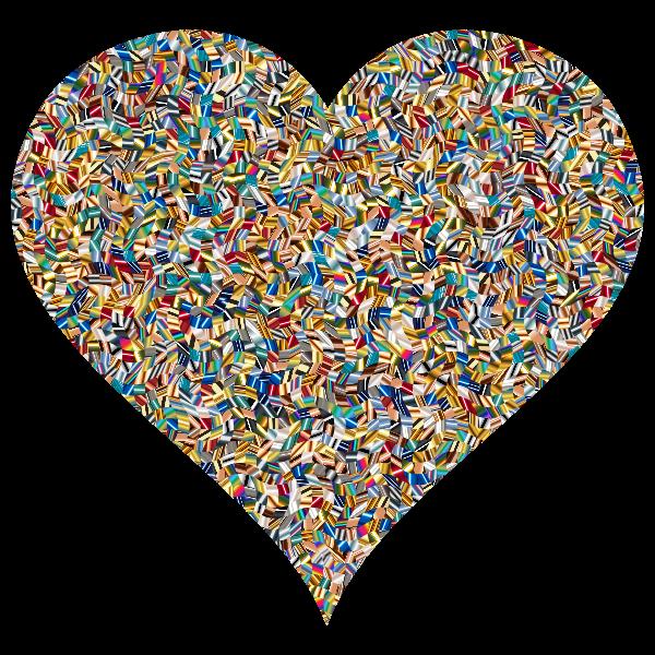 Colorful Confetti Heart 5 Variation 2