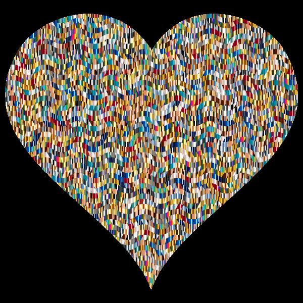 Colorful Confetti Heart 5