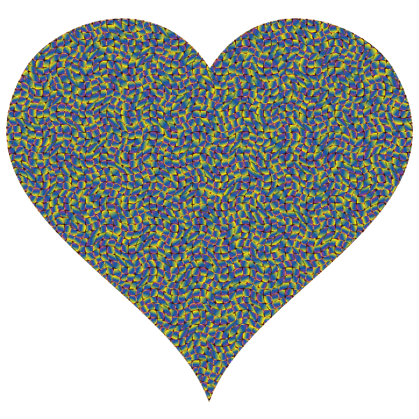 Colorful Confetti Heart 8 Variation 2