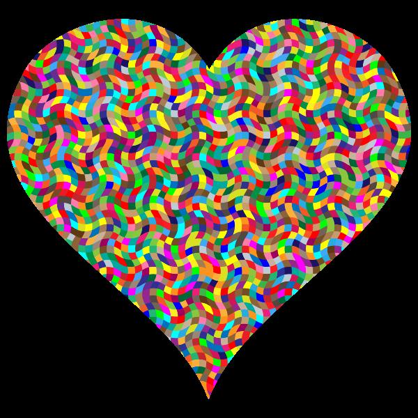 Colorful Confetti Heart
