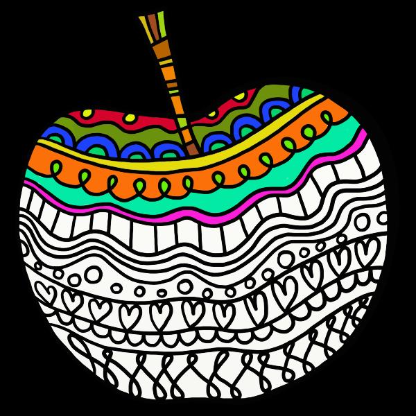 Decorated apple
