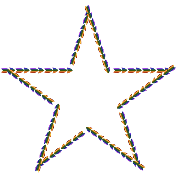 Colorful Direction Star