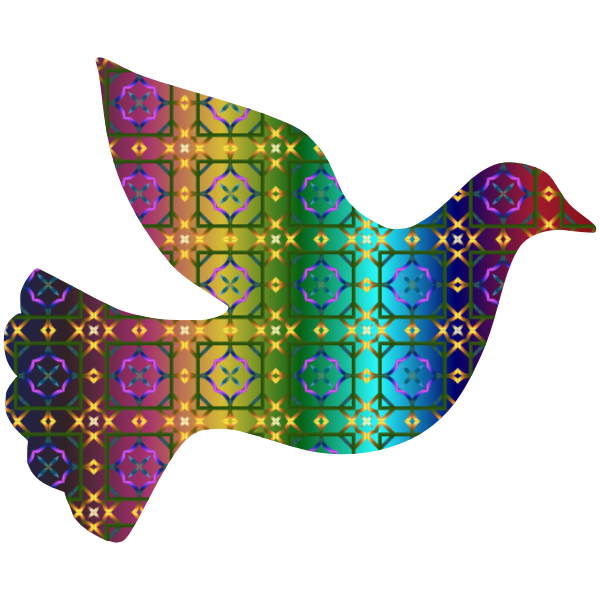 Colorful Dove Pattern