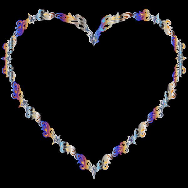 Colorful Fancy Decorative Line Art Heart 2
