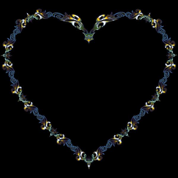 Colorful Fancy Decorative Line Art Heart 3