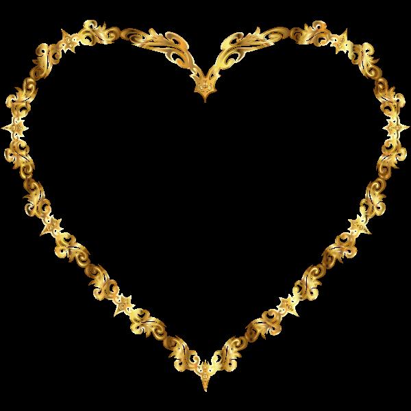 Colorful Fancy Decorative Line Art Heart 4