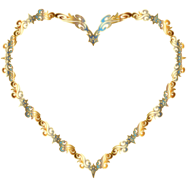 Colorful Fancy Decorative Line Art Heart