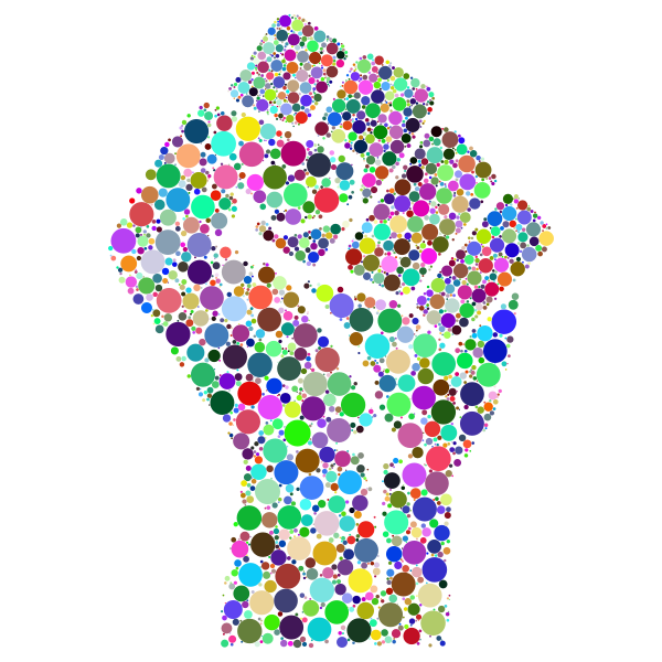 Colorful Fist Circles