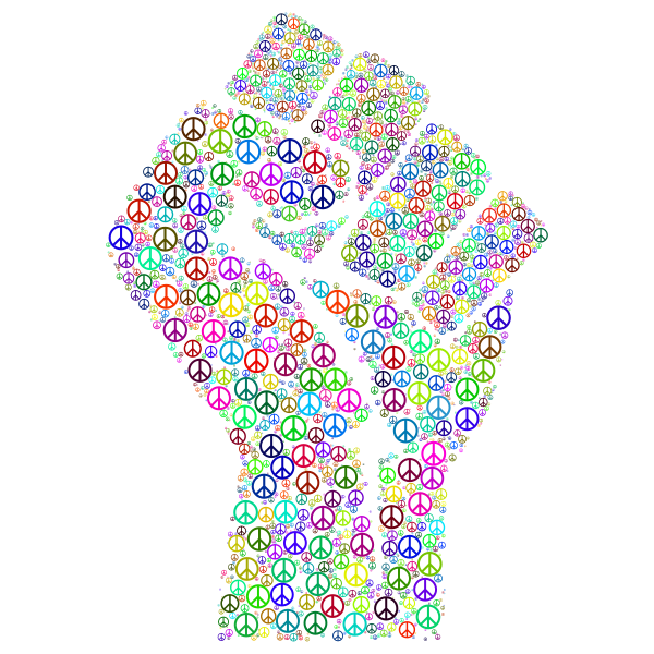 Colorful Fist of Peace