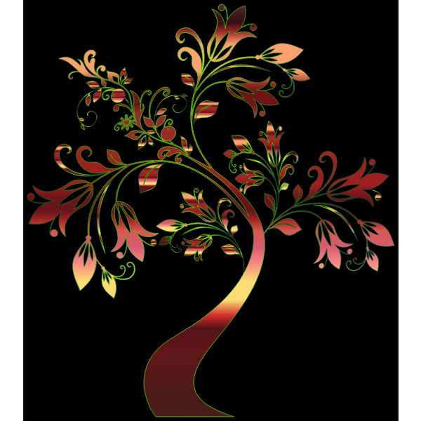 Colorful Floral Tree 12