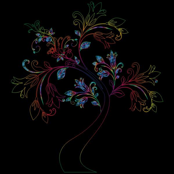 Colorful Floral Tree 17 Variation 2