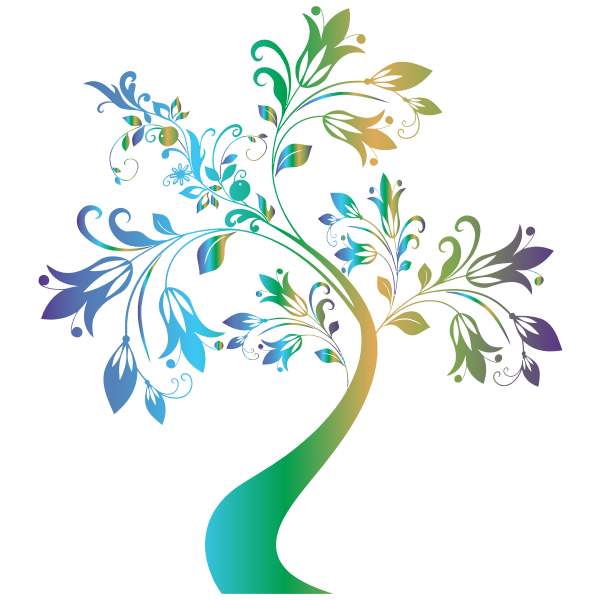 Colorful Floral Tree 2