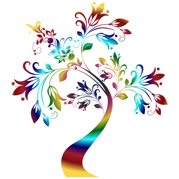 Colorful Floral Tree 3 Variation 2
