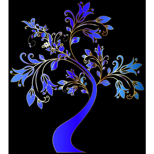 Colorful Floral Tree 4