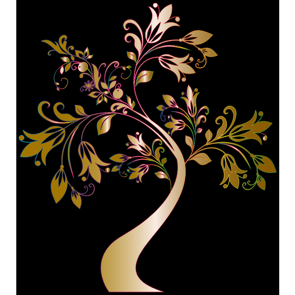 Colorful Floral Tree 7