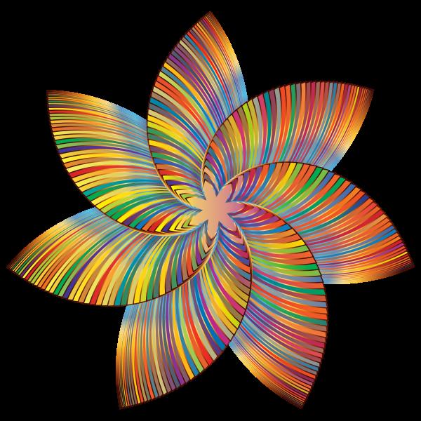 Colorful Flower Line Art 2