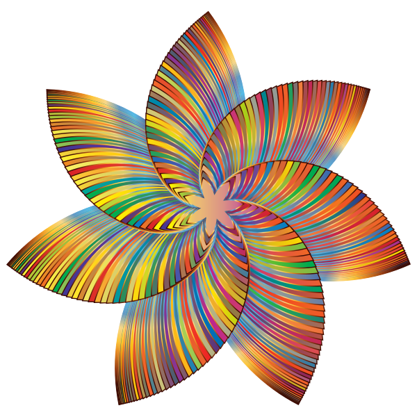 Colorful Flower Line Art 2