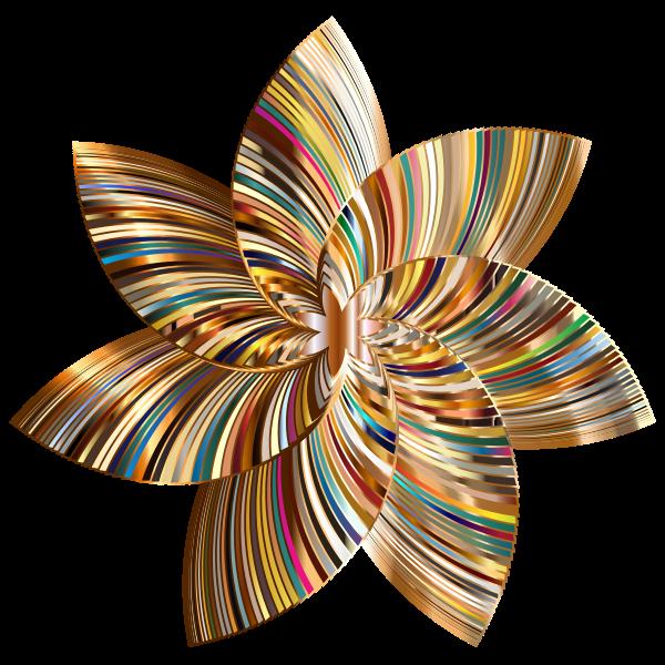 Colorful Flower Line Art 5