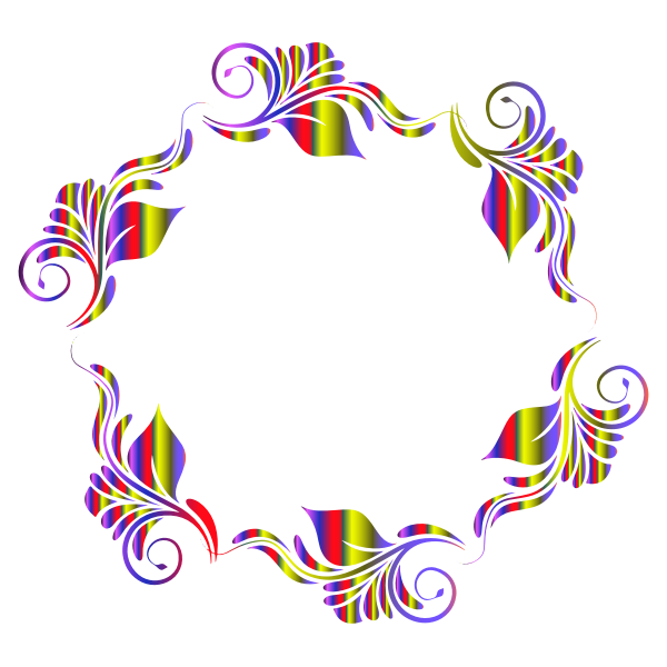 Colorful Flowers Pattern In A Circle