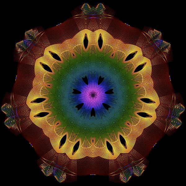 Colorful Geometric Line Art 2