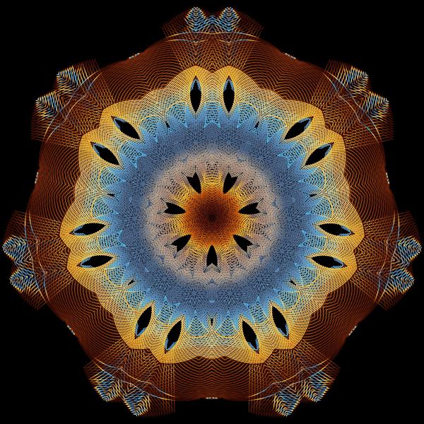 Colorful Geometric Line Art 3