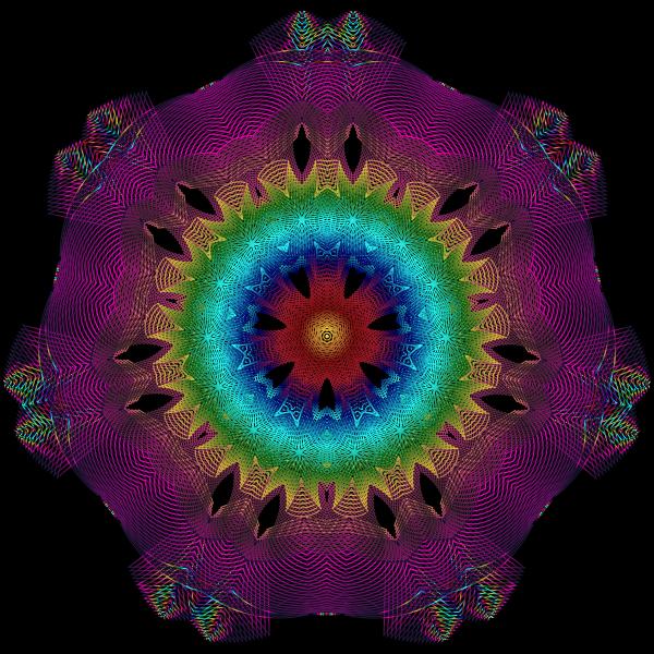 Colorful Geometric Line Art 4